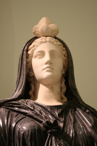 Roman Isis, from the 2nd century CE, in the Farnese Collection in Naples. Perhaps my favorite non-Egyptian image of the Goddess. Now I have seen Her up close and personal. Image copyright Forrest 2009.