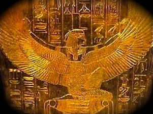 Image result for egyptian isis wings statue images