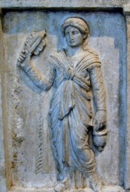 A priestess of Isis of the period