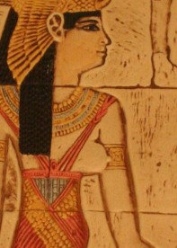 Note the knots in the straps of the Goddess' garment as well as the little loop between Her breasts.
