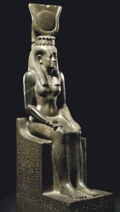 Isis seated upon the symbol of Her name