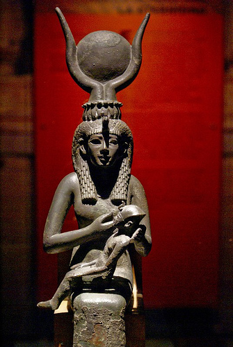 isis nursing horus Countless bronze figures of isis nursing her son horus exist from the later periods of ancient egypt the wife of osiris represented both the feminine ideal and the grandmother of the royal heir during the first millennium bc, she was the object of a strong religious fervor, as illustrated in her .