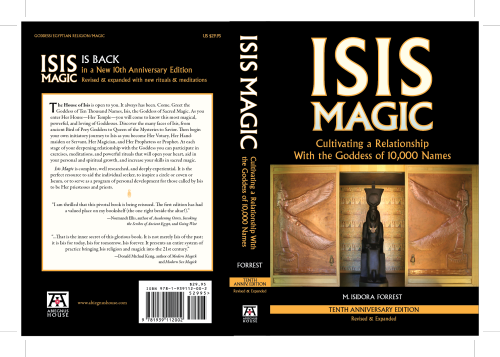 The new cover of Isis Magic in all its pre-printed glory