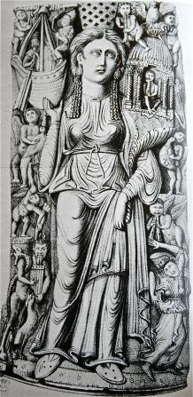 A carving of Isis from the Aquisgrana Cathedral in Germany