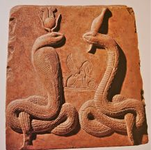 Isis as Agathe Tyche and Osiris as Agathos Daimon in serpent form