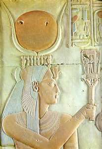 Isis with the sistrum from Abydos