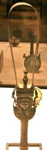A hoop sistrum, now in the Louvre