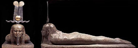 Before Osiris could rise, He had to roll over on His stomach as you see in this beautiful statue. I am so please that I got to see this statue in person in a traveling exhibition.