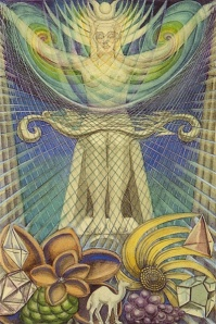 Isis as the Goddess of Light from the Thoth Tarot Deck, art by Frieda Harris.
