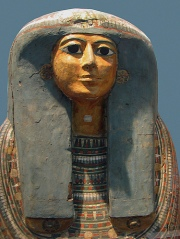The sarcophagus of a Chantress of Amun