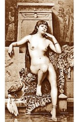 An early-photography fantasy of a languid Priestess of Isis