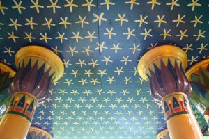 The roof of the temple is painted as Mother Nuet's starry belly