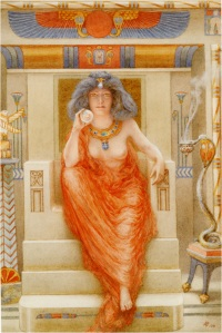 Isis by Armand Point, from about 1909. I've never seen this one before and so I include it here for your viewing pleasure.