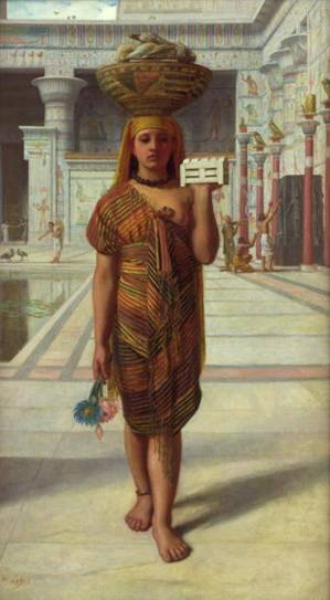 """Offering to Isis"" by Sir Edward john Poynter, 1866; perhaps she has myrrh in that little container?"