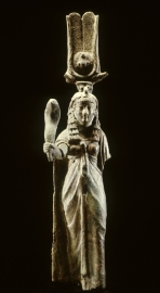 Ptolemaic Isis; note She holds a cobra rather than the sistrum that will later be so characteristic
