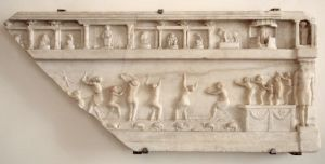 This scene is from a Roman tomb; so think it may be a scene from the Navigium Isidis