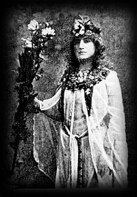 Moina Mathers dressed in her priestess of Isis garb