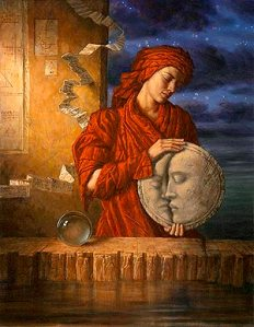 A beautiful modern rendition of Drawing Down the Moon by Jake Baddeley. You can purchase a copy here.