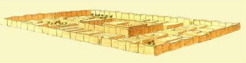 A reconstruction of the Isis temple complex at Isiopolis