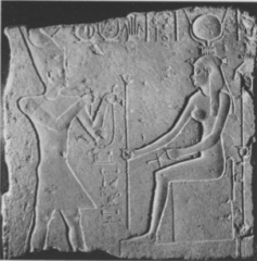 Ptolemy offering to Isis; from the Temple at Isiopolis