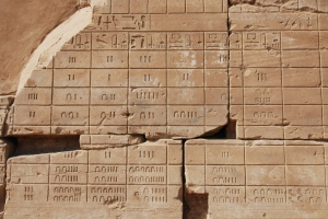 An ancient Egyptian calendar from the temple of Karnak