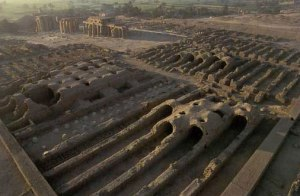 The granaries at the Ramesseum; photo by Patrick Godeau from Tour Egypt site