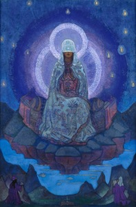 The World Mother, a believe this is a painting by the Theosophist, Geoffrey Hodson