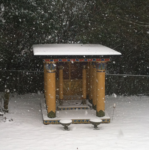 The Shrine of the Lotuses, enjoying playing in the snow