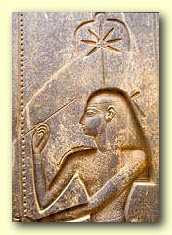Seshat, Goddess of Wisdom, Knowledge, and Writing, shown with Her stylus