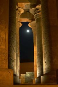 Temple by full moonlight