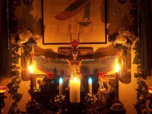 Someone's beautiful Isis altar... if this is yours, please let me know. I love it!