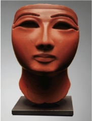 A pharaoh's head in red jasper