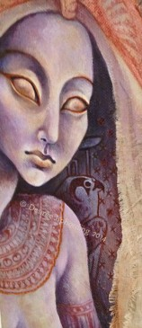A contemporary Nephthys by artist Desiree Isphording. You may purchase this piece on etsy.
