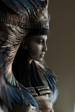 A stunning modern Nephthys by—appropriately—a pair of artist sisters, Katya and Lena Popovy, dollmakers