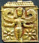 Greek Bee Goddess...in what looks like an Egyptian nemyss