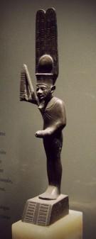 A statuette of Min