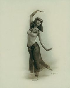 Ruth Saint Denis, a pioneer of modern dance, began to investigate Asian dance after seeing an image of the Egyptian goddess Isis in a cigarette advertisement. The Goddess inspires everywhere.