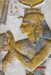 Isis from Abydos wearing the Vulture Headdress