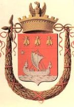 Napoleon's Coat of Arms for the city of Paris, with Isis enthroned on the prow of the ship