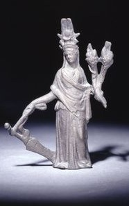 Isis-Fortuna with rudder and cornucopia