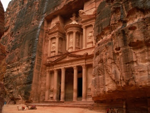 "The famous ""Treasury"" (originally a mausoleum & crypt) of Petra"