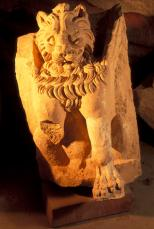 One of the winged lions from the Temple of the Winged Lions, photo by Richard Nowitz