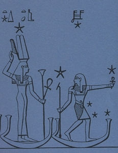 Iset-Sopdet following Sah-Osiris in Their celestial boats
