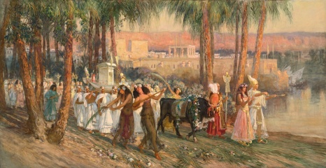 Frederick Arthur Bridgman, A Procession in Honor of Isis or An Egyptian Procession, 1902