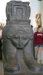 A lovely Hathor head, from a processional boat, now in the British Museum