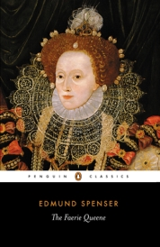 Queen Elizabeth I of England on the cover of The Faerie Queene