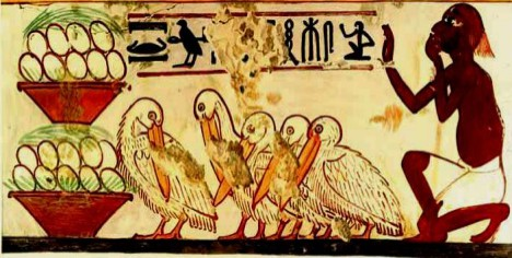 Egyptian art egg