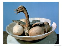 An egg-filled nest from Tutankhamon's tomb