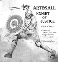 Artegall from a graphic novel