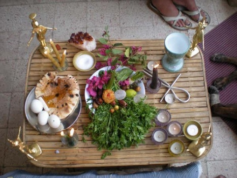 A modern offering table